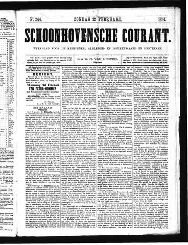 Schoonhovensche Courant 1874-02-22