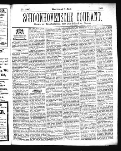 Schoonhovensche Courant 1908-07-08