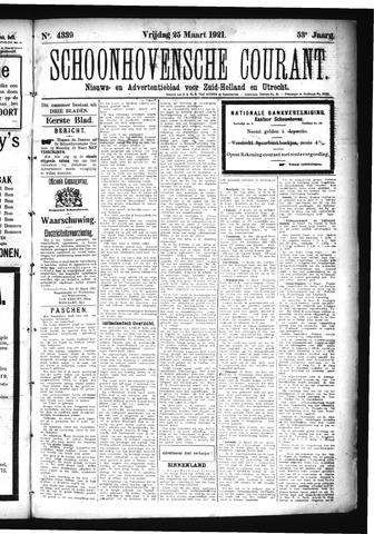 Schoonhovensche Courant 1921-03-25