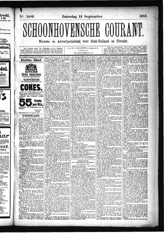 Schoonhovensche Courant 1913-09-13