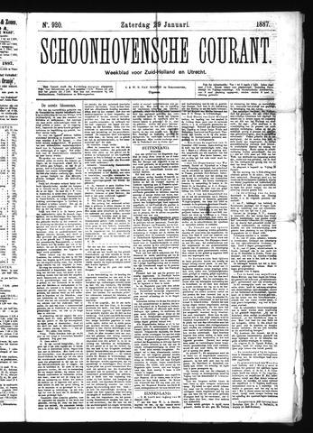 Schoonhovensche Courant 1887-01-29