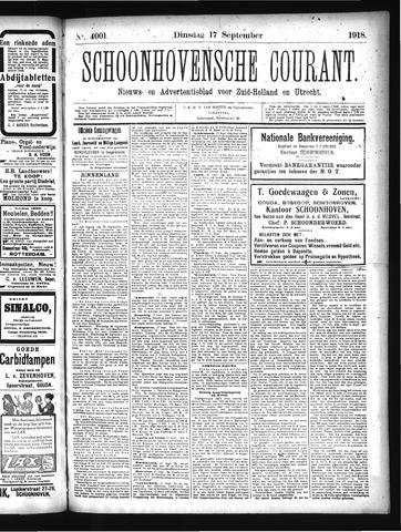 Schoonhovensche Courant 1918-09-17
