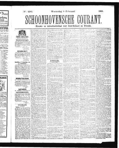 Schoonhovensche Courant 1905-02-08