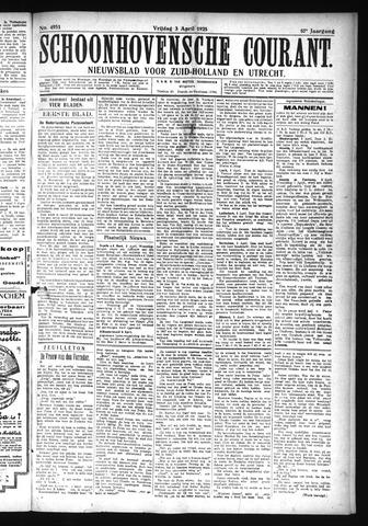 Schoonhovensche Courant 1925-04-03