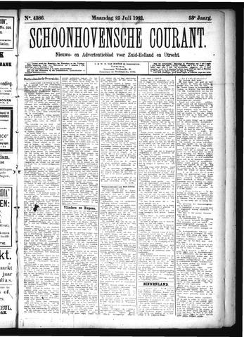 Schoonhovensche Courant 1921-07-25