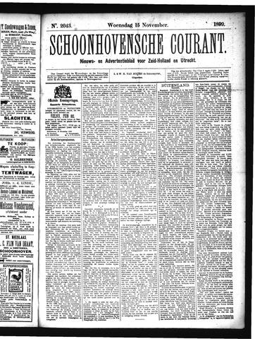 Schoonhovensche Courant 1899-11-15