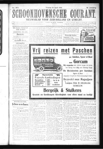 Schoonhovensche Courant 1924-04-18