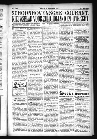 Schoonhovensche Courant 1927-09-30