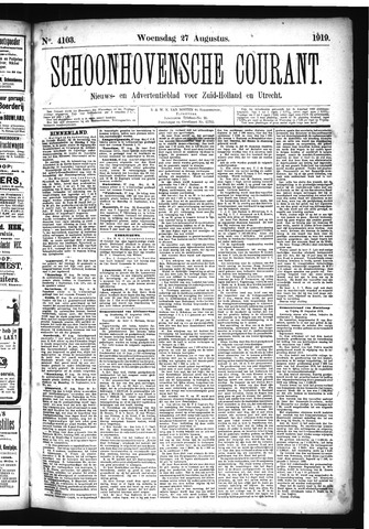 Schoonhovensche Courant 1919-08-27