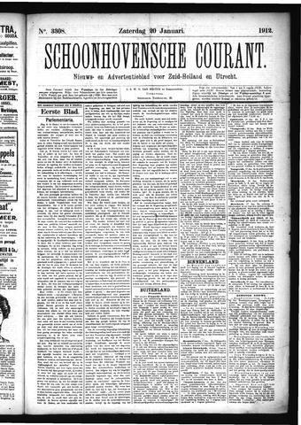 Schoonhovensche Courant 1912-01-20