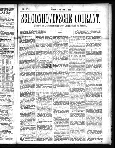 Schoonhovensche Courant 1891-06-24