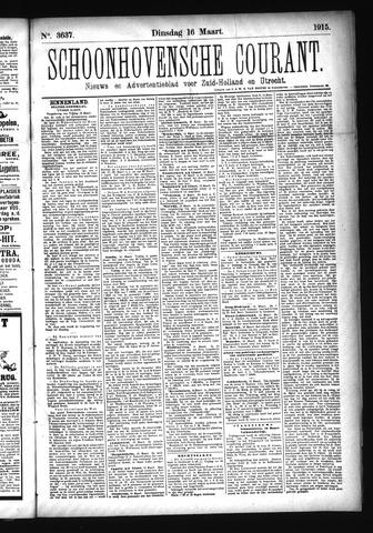 Schoonhovensche Courant 1915-03-16