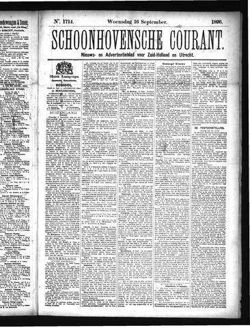 Schoonhovensche Courant 1896-09-16
