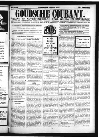 Goudsche Courant 1935-01-22