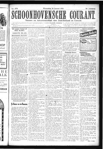 Schoonhovensche Courant 1924-01-30