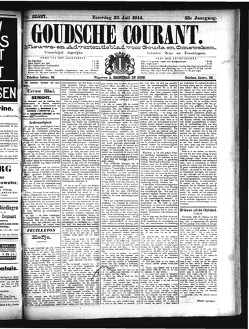 Goudsche Courant 1914-07-25