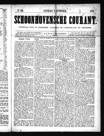 Schoonhovensche Courant 1873-10-05