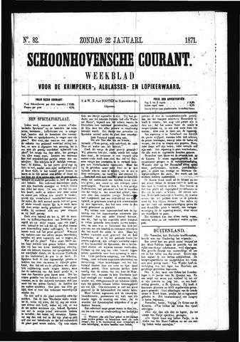 Schoonhovensche Courant 1871-01-22