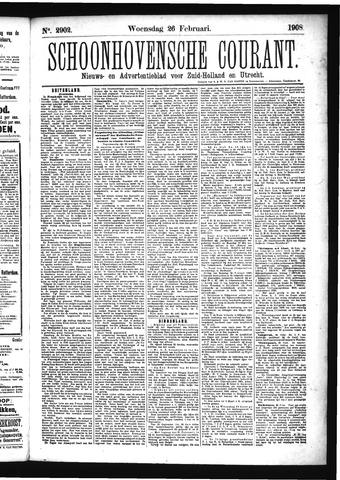 Schoonhovensche Courant 1908-02-26
