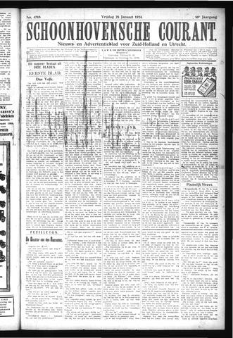 Schoonhovensche Courant 1924-01-25