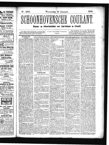 Schoonhovensche Courant 1903-01-28