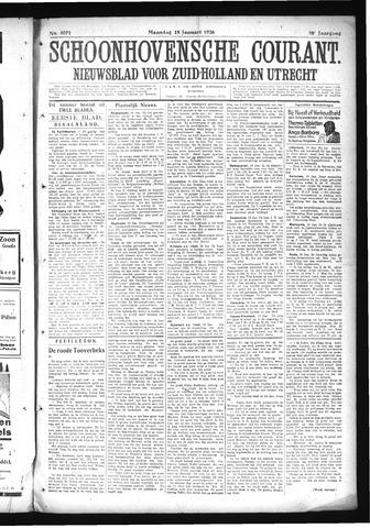 Schoonhovensche Courant 1926-01-18