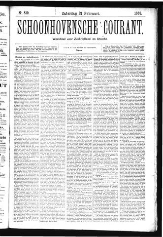 Schoonhovensche Courant 1885-02-21