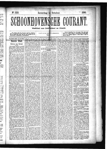 Schoonhovensche Courant 1890-10-11