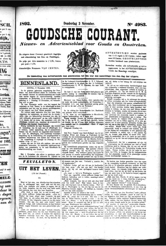 Goudsche Courant 1892-11-03