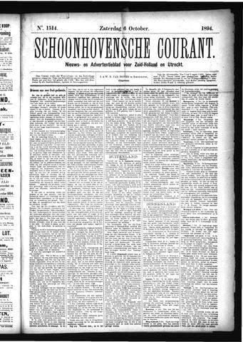 Schoonhovensche Courant 1894-10-06