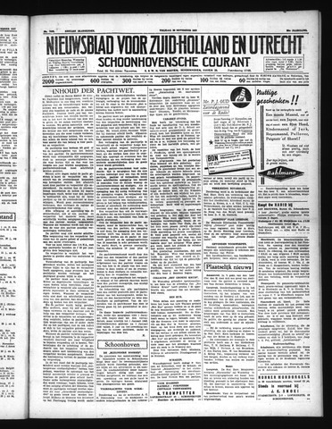 Schoonhovensche Courant 1937-11-26