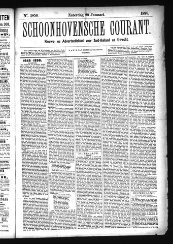 Schoonhovensche Courant 1898-01-29