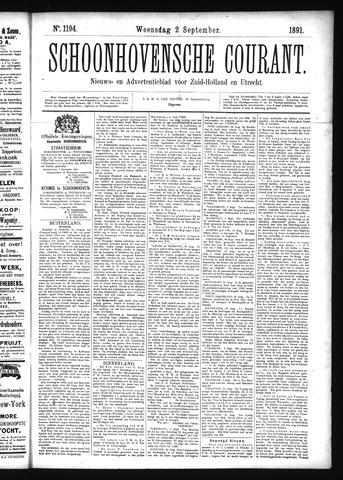 Schoonhovensche Courant 1891-09-02