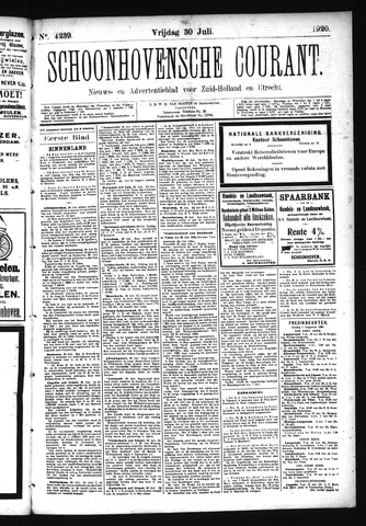 Schoonhovensche Courant 1920-07-30