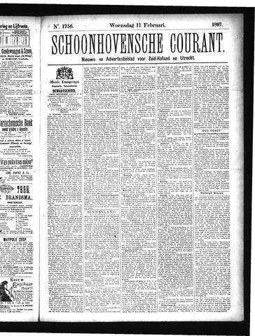 Schoonhovensche Courant 1897-02-17