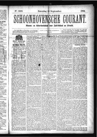 Schoonhovensche Courant 1894-09-29