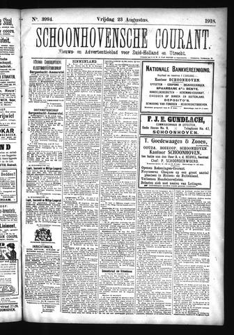 Schoonhovensche Courant 1918-08-23