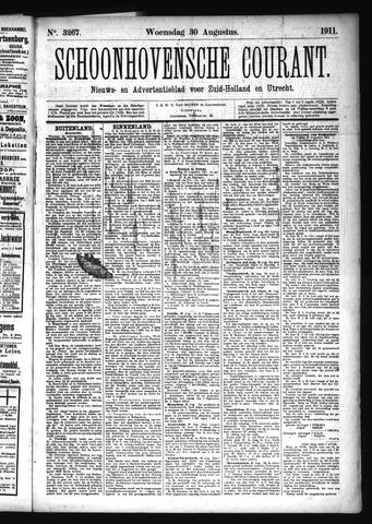 Schoonhovensche Courant 1911-08-30