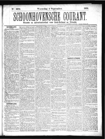 Schoonhovensche Courant 1912-09-04