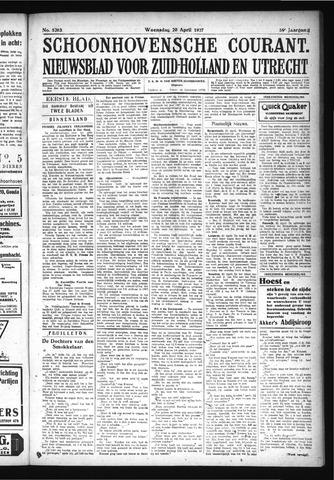 Schoonhovensche Courant 1927-04-20