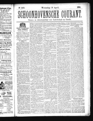 Schoonhovensche Courant 1894-04-18
