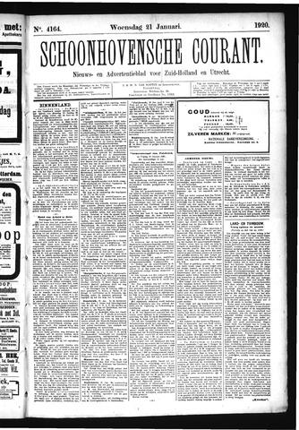 Schoonhovensche Courant 1920-01-21