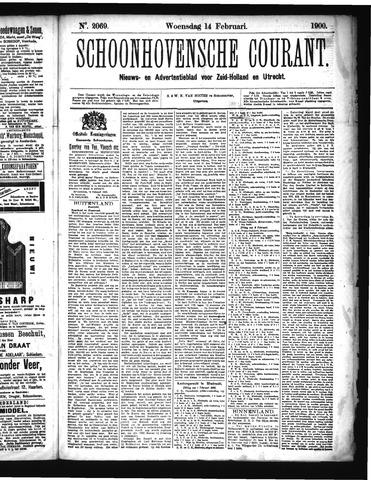 Schoonhovensche Courant 1900-02-14