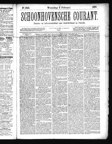Schoonhovensche Courant 1893-02-08