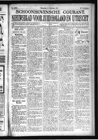 Schoonhovensche Courant 1927-10-31