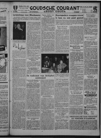 Goudsche Courant 1949-02-08