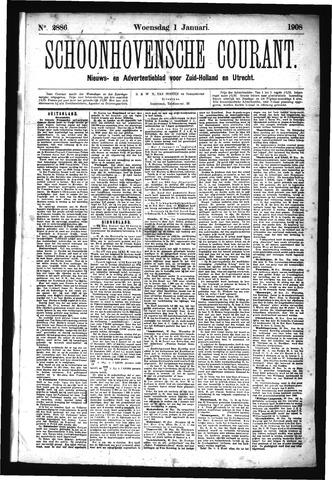 Schoonhovensche Courant 1908-01-01