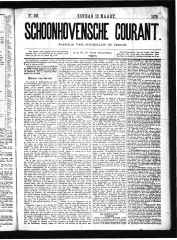 Schoonhovensche Courant 1876-03-12