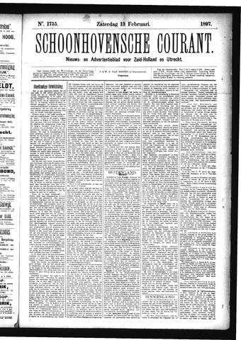 Schoonhovensche Courant 1897-02-13