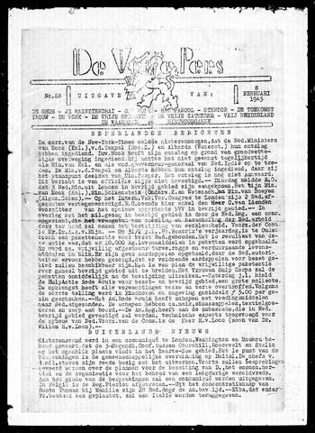 De Vrije Pers 1945-02-08